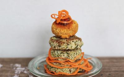Rote Linsen-  und Quinoa – Bratlinge