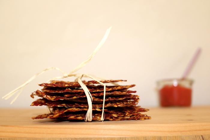 Leinsamen-Cracker