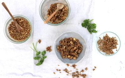Buchweizen-Crunchy pikant und süß-scharf
