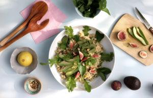Quinoasalat mit frischen Feigen