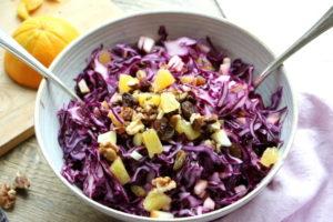 Rotkohlsalat fruchtig