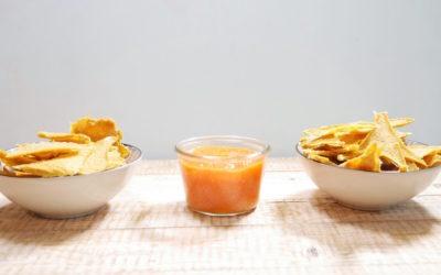 Mais Chips mit Chutney süß-scharf (mit Video)
