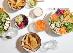 Mais Chips Salatbowl
