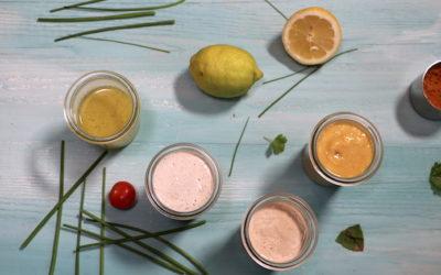 Vier gesunde Salatdressings (mit Video)