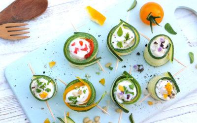 Rohkost Zucchiniröllchen
