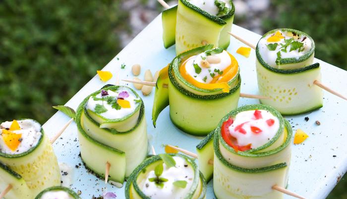 Zucchini mit Frischkäse