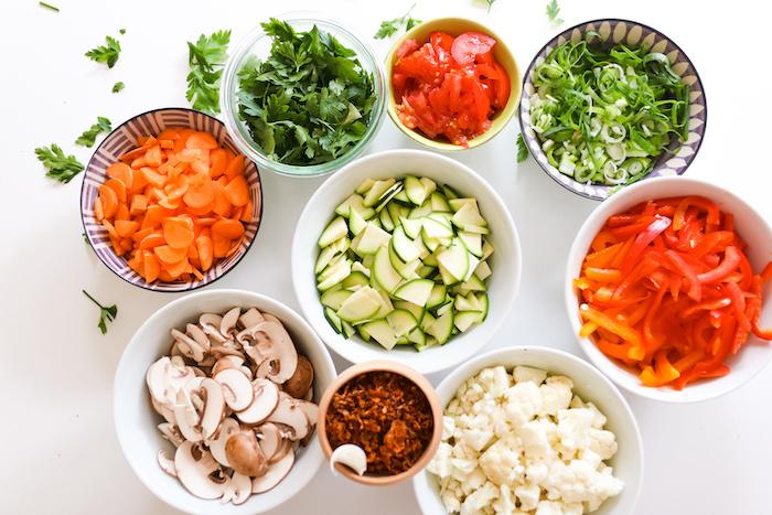 Gemüse fein geschnitten