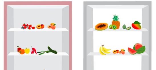 Die richtige Lagerung von Obst und Gemüse