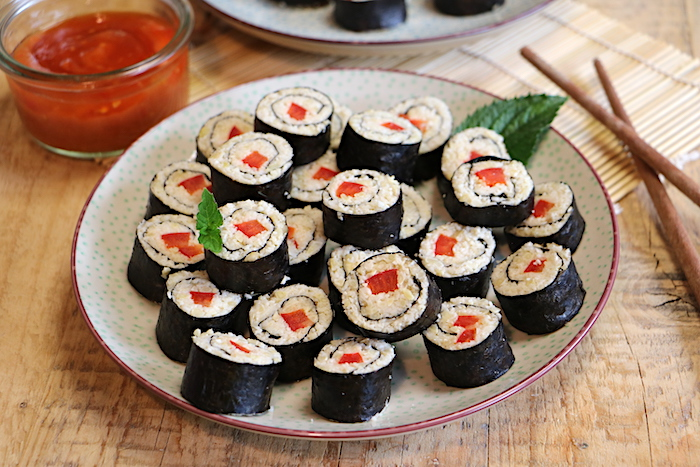 roh vegane Sushi