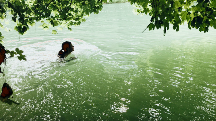 Fluss schwimmen