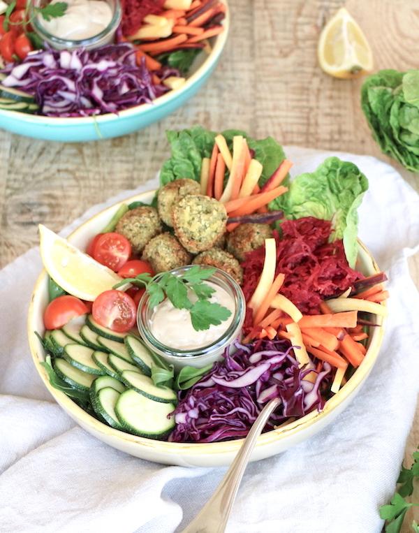 Salatbowl mit Falafel