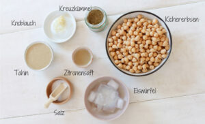 Hummus Zutaten